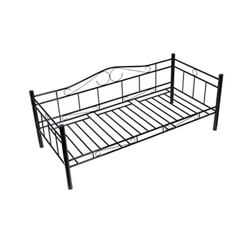 Vidaxl divano letto ferro 200 x 90, divanetto trasformabile