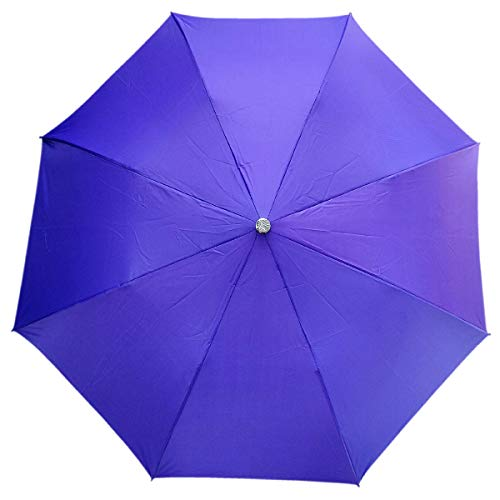 FoxKon Umbrella for Women Men Girls and Boys Purple Color 2 fold Ladies Umbrella with uv Protection