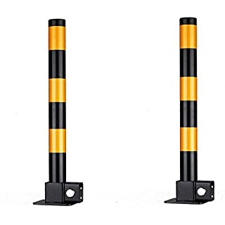 2 x Steel Removable Folding Security Safety Parking Driveway Vehicle Post Bollards