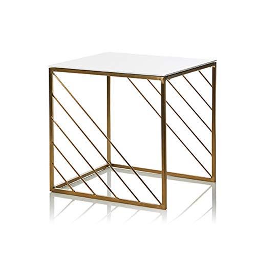 cozyhome AA Kleiner Couchtisch - einfache Mini-Quadrat Wohnzimmer Sofa Seite goldenen Schmiedeeisen Tisch Zuhause (größe : 40 * 40 * 40.5cm)
