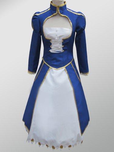 Fate / Stay Night Saber Blau Schwertkämpfer Cosplay Kostüme Brauch (Mailen Sie uns Ihre Größe),Größe M:160-165cm