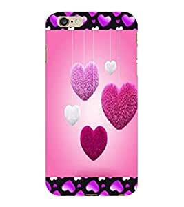 ColourCraft Love Hearts Design Back Case Cover for APPLE IPHONE 6S PLUS