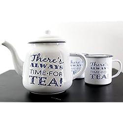 Unbekannt Robert Frederick Tee Topf Emaille–Es gibt immer Zeit für Tee, sortiert