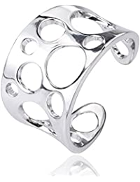 LYTOPTOP 925 Sterling Silver Thumb Ring Women Adjustable Celtic Knot Ring Eternity Engagement Jewellery Eternity ring rwrYKk5E
