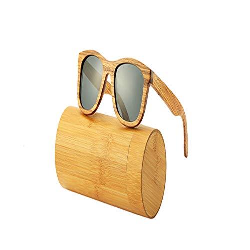 Sport-Sonnenbrillen, Vintage Sonnenbrillen, New 100% Real Zebra Wood Sunglasses Polarized Handmade Bamboo Mens Sunglass Sun Glasses Men Gafas Oculos De Sol Mader Gray