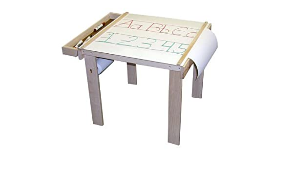 Beka 08402 Art Table one wood tray paper holder under table (paper ...