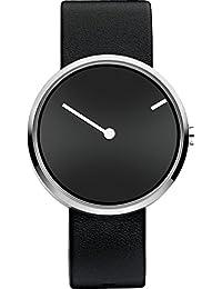Jacob Jensen 251 - Reloj de pulsera unisex, piel, color negro