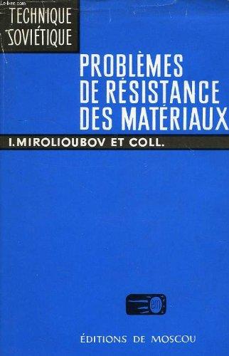 Resistance des materiaux, manuel de resolution des problemes