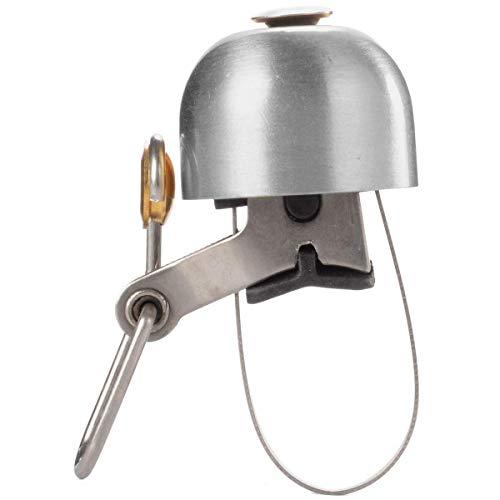 ROCKBROS Fahrradklingel Handklingel Lenker Klassisch Klingel Retro Vintage Horn Retro Bell (Silber)