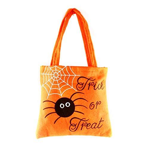 elec tech Halloween Kürbis Süßigkeiten Tasche mit Aufdruck Kürbis Süßigkeiten Tote Kinder Geschenke Süßigkeiten Taschen Handtaschen für Kinder oder Kostüm Party 10 pcs