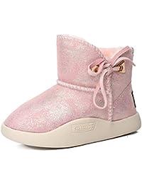 c22ce6621 Botas de Nieve para niños Bowknot Borla Invierno Engrosamiento cálido Niños  y niñas Botas de Tobillo