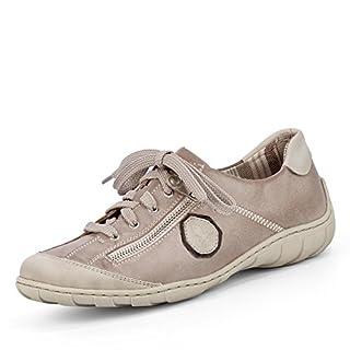 Rieker M3724-80 Damen Halbschuh Schnürschuh Sneaker grau (grau kombi) EU 41