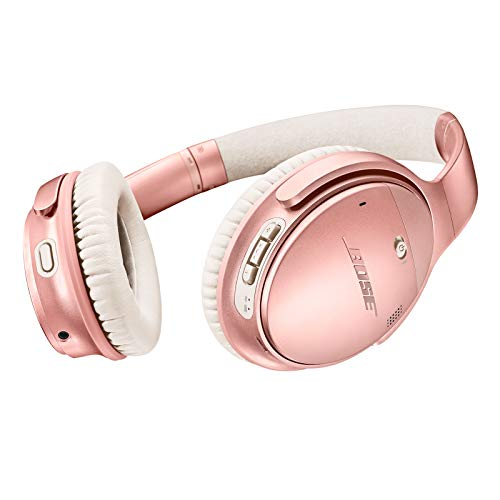 Bose quietcomfort 35 II - Auriculares inalámbricos (con bose ar, Funciona con el Control por Voz de Alexa) Rosa Dorado.
