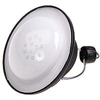 Dax-Hub 3W ultra ricaricabile luminosa portatile della tenda della luce a LED - 12 LED Lanterna Luce dell'ombrello Notte per caccia pesca tenda lampada di notte per Outdoor & Emergency Usa - massima 120 lumen, 2 opzioni di batteria, impermeabile, facile Hanging - Adatto per escursioni, campeggi, Emergenze , interruzioni (12LED-3W, 3 Modi, bianco neutro)