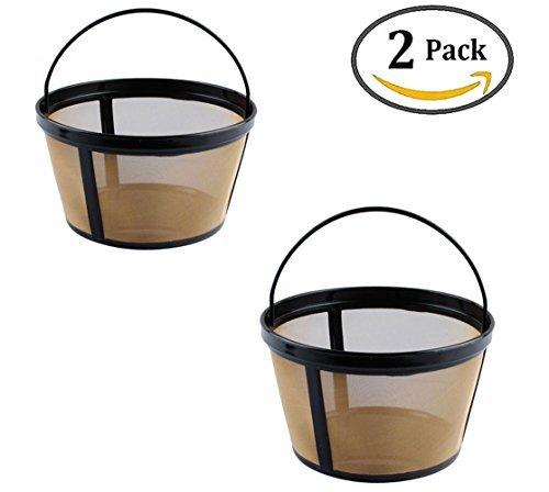 Podoy Wiederverwendbarer Kaffee-Filter für Mr. Coffee GTF2-1, Goldton