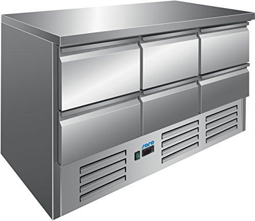 Saro 323-10041 Vivia S 903 S/S Top 6 x 1/2 Gekühlter Arbeitstisch
