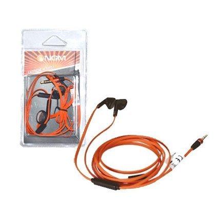 NGM-Mobile HI-FW Auricolare Stereofonico Cablato Nero, Arancione auricolare per telefono cellulare