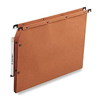 ELBA 100330474 Hängemappe AZV Ultimate 25er Pack DIN A4 Bodenbreite 1,5 cm aus Kraftkarton vertikale Kennzeichnung orange Recycling-Karton Blauer Engel