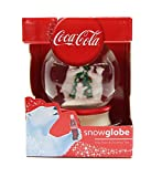 Coca Cola Polar Bear Family and Christmas Tree Snow Globe