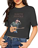 Photo de Honyse Garth Brooks Summer Woman Casual Stylish Current Customized Navel Soft Cotton T-Shirt,Black,XL par Honyse