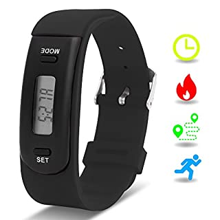 Kids Fitness Tracker with Pedometer, Willful Fitness Activity Tracker Watch (Pedometers, Calories, Distance, Sleep Monitor) Non Bluetooth, Non APP (Black)
