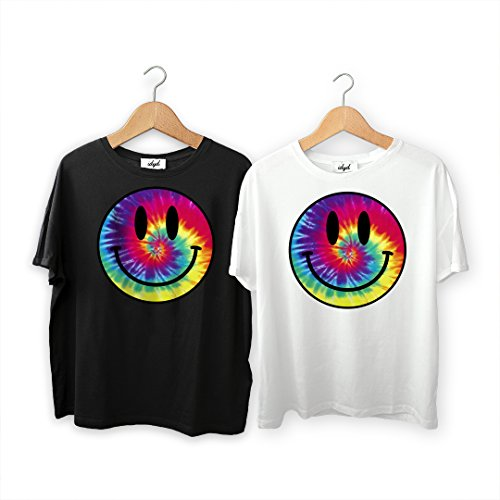 Mens Loose Fit Acid Smiley Face Tie Dye T shirt - S to XL
