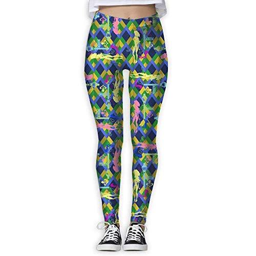 QIAOJIE-High Waist Ultra Soft Lightweight Leggings, Stretchy Mardi Gras Fat Tuesday Compression Pants/Yoga Pants Leggings