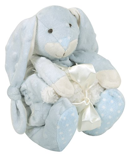 stephan-baby-super-soft-knotty-bunnie-and-bumpy-plush-shaggy-sherpa-security-blanket-set-blue-by-ste