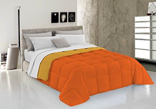 Italian Bed Linen Trapunta Invernale Elegant, Microfibra, Arancio/Giallo, 260 x 260 cm