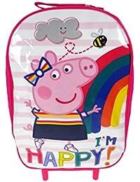 Peppa Pig Wheeled Bag Equipaje infantil, 38 cm, 8.5 liters, Rosa (Pink)