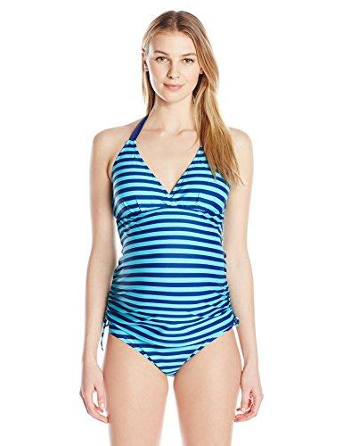 prego-maternity-womens-maternity-striped-beachkini-tankini-navy-turquoise-x-large