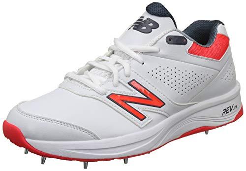 New Balance 4030V3 Cricket-Schuhe für Herren, Weiß, 45.5