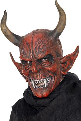 Smiffys Unisex Teufelsmaske, One Size, Rot, -