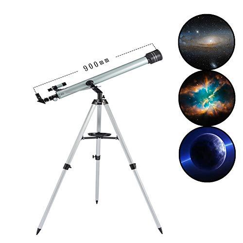 MAI&BAO Teleskop Astronomisches 60mm Tragbares Zoom HD Refraktor Teleskop für Einsteiger Amateur-Astronomen und Kinder für Beobachtung von Mond und Sterne,Silver