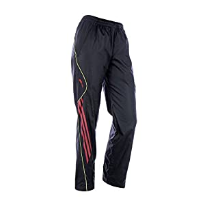 adidas Boys Tracking Sport Long Pants Black with red Autumn Winter Training Running