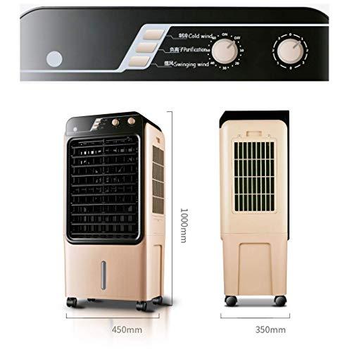 MU Home Wohnzimmer Schlafzimmer Fan-Fan Golden Mobile Kühlung, Single Cold Mechanische Industrieklimaanlage 150W -