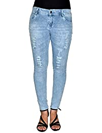 LondonHouze Light Blue Skinny Ripped Jeans