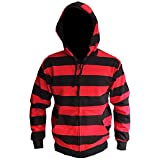 Search : Black and Red Striped Zip up Hoodie, hooded zipper jacket, zip hooded All sizes