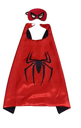 squishybean 1 Set Kinder Cape und Masken Spiderman Kostüme Super Hero Kleid bis Spiderman Kostüme Avengers Spider Man Fancy Kleid