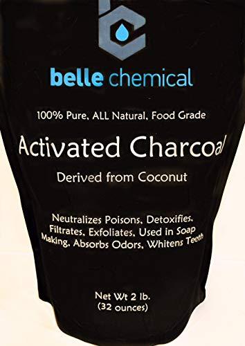 Bio-Kokosnuss-Aktivkohlepulver - Lebensmittelqualität, Koscher - Zahnaufhellung, Gesichtspeeling, Seifenherstellung (2 Pfund)