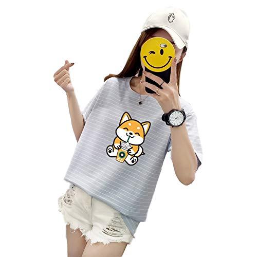 Febelle Shiba INU Doge Perro Camiseta Manga Corta