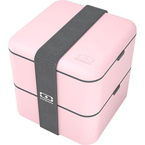 Monbento Square Bento Box, Quadratische Lunchbox, Litchi