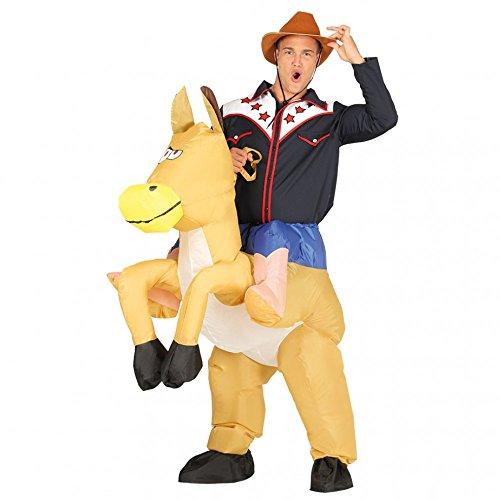 (aufblasbarer Pferdekostüm Wilder Westen Cowboy Dick Kostüm Tierkostüm für Erwachsene, Größe:L)