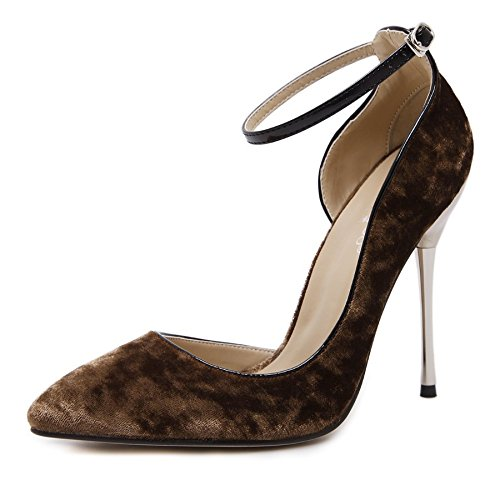 GS~LY Geschenk der Mutter Tages In Europa und in den Vereinigten Staaten groß flach Mund zeigt High Heels Khaki