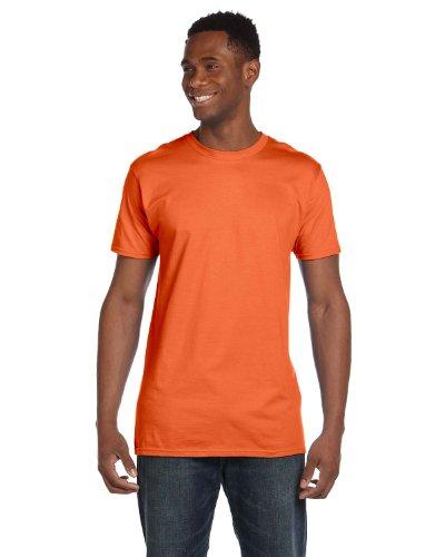 Hanes 4980 Mens Nano T-Shirt 1 Fatigue Green + 1 Vintage Orange