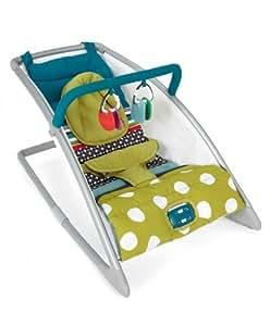 Mamas & Papas Go Go Rocking Cradle - Carousel Lime