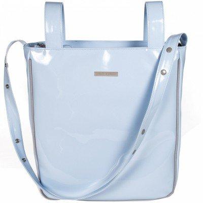 Preisvergleich Produktbild pasito a pasito–Brotkasten Tasche Patent Blau Tweed Baby (TW)