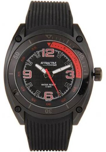 Q&Q Attractive Analog Black Dial Men's Watch - DB04J001Y image