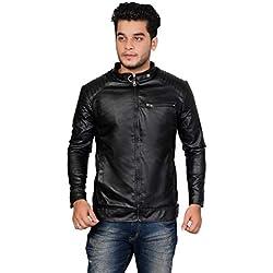 Fashion Cure Men's Full Sleeve Solid Men Jacket Black