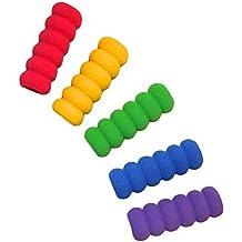 Kids Pencil Grip-10Pcs Multi-Color Pencil Grips-Pencil Grips zur Verbesserung der Handschrift-Soft-Stiftgriffe Schreibhilfen-Pencil Grips f/ür Studenten Kinder